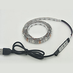 1db 30smd 5050 rgb fénycsövek 1m dc 5v teljesítmény 3,5 W usb IP65 vízálló RGB controlle