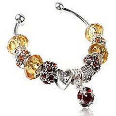 Women's Chain Bracelet Crystal Zircon Cubic Zirconia Alloy Natural Friendship Fashion Round Yellow Jewelry 1pc