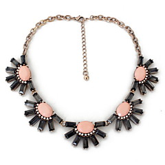 Women's Strands Necklaces Jewelry Single Strand Gemstone Alloy Natural Personalized Euramerican European Blushing Pink Light Blue Jewelry