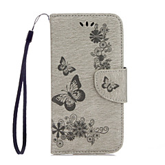 For Huawei P10 Lite P10 PU Leather Material Butterfly Flower Pattern Solid Color Phone Case P8 Lite (2017) Honor 8 Honor 5C Y5 II