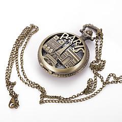 גברים לנשים יוניסקס שעון כיס שעון שרשרת קווארץ סגסוגת להקה וינטאג' מזל יום יומי צבעוני ברונזה