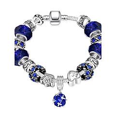 Bracelet Chain Bracelet Charm Bracelet Crystal Alloy Zircon Silver Plated Heart IrregularNatural Friendship Turkish Gothic Fashion