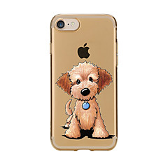 Para Transparente Estampada Capinha Capa Traseira Capinha Cachorro Macia TPU para AppleiPhone 7 Plus iPhone 7 iPhone 6s Plus/6 Plus