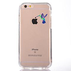 Varten Läpinäkyvä Kuvio Etui Takakuori Etui Leikki Apple-logon kanssa Pehmeä TPU varten AppleiPhone 7 Plus iPhone 7 iPhone 6s Plus iPhone