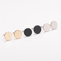 Non Stone Round Stud Earrings Jewelry Circular Design Euramerican Fashion Personalized Daily Casual Alloy 1 pair