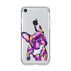 Voor Transparant Patroon hoesje Achterkantje hoesje Hond Zacht TPU voor AppleiPhone 7 Plus iPhone 7 iPhone 6s Plus iPhone 6 Plus iPhone