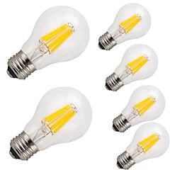 6 stk 8.5w e27 led glødelamper pære a60 (a19) 12cob 1000lm varm hvid cool whiteac 220-240 v