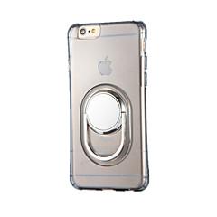 Για Βάση δαχτυλιδιών Περιστροφή 360° tok Πίσω Κάλυμμα tok Μονόχρωμη Μαλακή TPU για AppleiPhone 7 Plus iPhone 7 iPhone 6s Plus iPhone 6