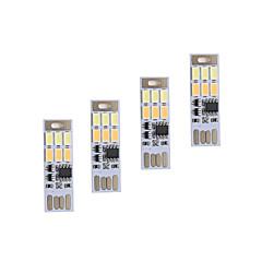 brelong調光usb 3w 6x5730夜光タッチスイッチタッチデュアルライトカラー(dc5v)4本