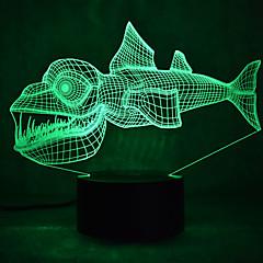 クリスマスの魚のタッチ調光3d led夜の光7colorful装飾雰囲気のランプノベルティ照明クリスマスライト