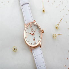 Dames Modieus horloge Kwarts Leer Band Vrijetijdsschoenen Zwart Wit