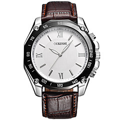 OUKESHI Men's Fashion Sport Dress Wrist Watch Business Simple Quartz PU Band Cool Casual Unique Watches Relogios Masculino(Assorted Colors)