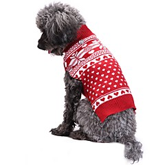 Macskák Kutyák Kabátok Pulóverek Kutyaruházat Tél Tavasz/Ősz Hópehely Aranyos Divat Karácsony Piros