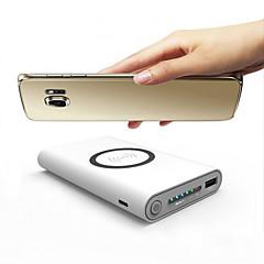 10000mAhbanco do poder de bateria externaCapa Carregadora para Samsung QC 3.0 QC 2.0 Carregador Sem Fio Output Múltiplo Regulagem de
