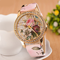 Women's Bohemia Diamond Flowers Strap Watch Quartz Analog Necklace Watch(Assorted Colors) Cool Watches Unique Watches