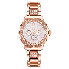SK Dames Modieus horloge Gesimuleerd Diamant Horloge Chinees Kwarts Waterbestendig Stootvast imitatie Diamond Legering BandVintage