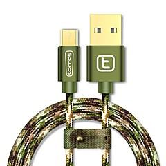 USB 2.0 Mikro USB 2.0 Flettet Kabel Til Samsung Huawei Sony Nokia HTC Motorola LG Lenovo Xiaomi 300 cm Nylon Aluminium TPE