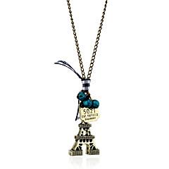 Damskie Naszyjniki z wisiorkami Kryształ Biżuteria Wieża Koronka Stop Postarzane euroamerykańskiej Europejski Osobiste Bronze Biżuteria Na
