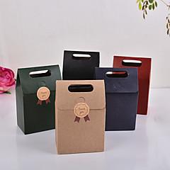 10pcs 15 * 9.8 * 5.8cm kraft kağıt torbalar parti ya da düğün hediyesi ve şekerler paketleme