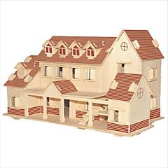 Jigsaw Puzzles DIY KIT Building Blocks 3D Puzzles Educational Nalati Villa Coffee Wooden Puzzles Building Blocks DIY Toys Square Famous