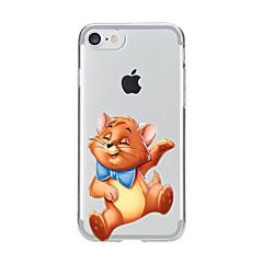 Varten Läpinäkyvä Kuvio Etui Takakuori Etui Kissa Pehmeä TPU varten AppleiPhone 7 Plus iPhone 7 iPhone 6s Plus iPhone 6 Plus iPhone 6s