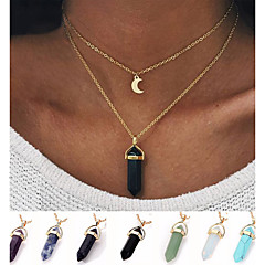 Women's Pendant Necklaces Turquoise Alloy Bullet Unique Design Simple Style Fashion Purple Light Blue Light Green Color1 Color2 Jewelry