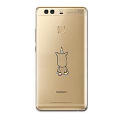 Για Εξαιρετικά λεπτή Με σχέδια tok Πίσω Κάλυμμα tok Μονόκερος Μαλακή TPU για HuaweiHuawei P9 Huawei P9 Lite Huawei P9 Plus Huawei P8