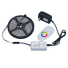 Jiawen 5m 5050smd RGB LED strimmel lette 60leds / m 2a 12V strømforsyning transformator 2,4 g rf fjernkontroll