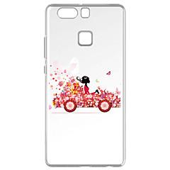 Mert Minta Case Hátlap Case Szexi lány Puha TPU mert Huawei Huawei P9 Huawei P9 Lite Huawei P8 Huawei P8 Lite