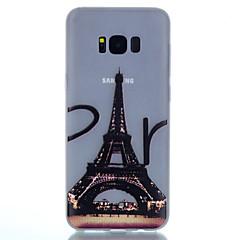 Mert Foszforeszkáló Jeges Áttetsző Minta Case Hátlap Case Eiffel torony Puha TPU mert SamsungS8 S8 Plus S7 edge S7 S6 edge plus S6 edge