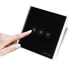 fyw drie gang raken afstandsbediening hoeft te snijden wand bedrading binnen afstandsbediening kan in 30 meter match ontvanger gebruik