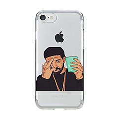 Para Transparente Diseños Funda Cubierta Trasera Funda Dibujos Suave TPU para AppleiPhone 7 Plus iPhone 7 iPhone 6s Plus iPhone 6 Plus