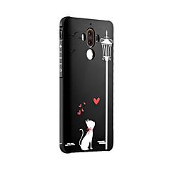 Mert Ütésálló Jeges Minta Dombornyomott Case Hátlap Case Cica Puha Szilikon mert HuaweiHuawei Honor 6X Huawei Mate 9 Pro Huawei Mate 9