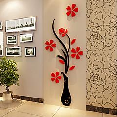크리스마스 로맨스 플로럴 벽 스티커 3D 월 스티커 데코레이티브 월 스티커,비닐 자료 홈 장식 벽 데칼