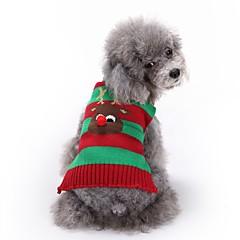 Gatos Perros Suéteres Ropa para Perro Invierno Reno Adorable Moda Navidad Rojo Verde Azul Blanco/Negro