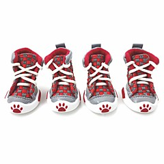 honden Schoenen & Laarzen Winter Zomer Lente/Herfst Modieus Sportief Geruit Oranje Rood Groen Blauw