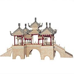 Puzzles Sets zum Selbermachen Bausteine 3D - Puzzle Bildungsspielsachen Holzpuzzle Bausteine Spielzeug zum SelbermachenQuadratisch Burg