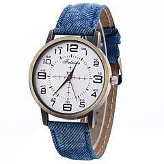 Unisex Fashion Watch Wrist watch Quartz Leather Band Cool Casual Unique Creative Black White Blue Red Brown Strap Watch