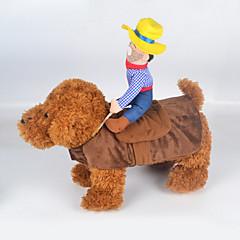katten honden kostuums Hondenkleding Zomer Lente/Herfst Jeans Schattig Cosplay Cowboy Modieus Veelkleurig
