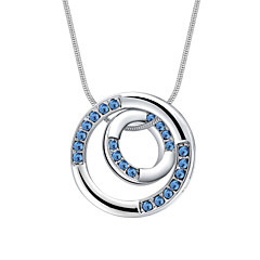 Women's Pendant Necklaces Crystal Chrome Circular Personalized Euramerican Simple Style Jewelry For Wedding Party Congratulations