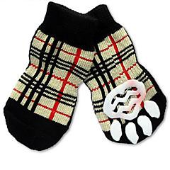 Γάτες Σκυλιά Κάλτσες Cute Μοντέρνα Καθημερινά Αθλητικά Γάμος Γενέθλια Γιορτή Διπλής Όψης Διατηρείτε Ζεστό Καρό/Τετραγωνισμένο Ουράνιο Τόξο
