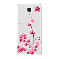 Mert Átlátszó Minta Case Hátlap Case Virág Puha TPU mert XiaomiXiaomi Mi 5 Xiaomi Mi 4 Xiaomi Mi 5s Xiaomi Mi 5s Plus Xiaomi Mi 3 Xiaomi