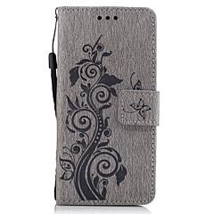 Na Etui na karty Portfel Z podpórką Flip Wytłaczany wzór Wzór Kılıf Futerał Kılıf Kwiat Twarde Skóra PU na SonySony Xperia X Sony Xperia