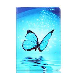 애플 ipad 프로 9.7 '에 대 한 ipad 5 ipad 6 케이스 커버 나비 패턴 카드 스텐 트 pu 소재 플랫 보호 쉘