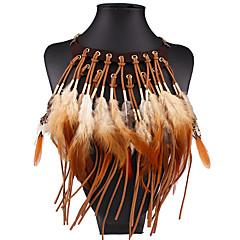 Damskie Oświadczenie Naszyjniki Skrzydła / Feather Pokryte piórami euroamerykańskiej biżuteria kostiumowa Biżuteria Na Ślub Impreza