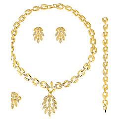Set de Bijoux Boucles d'oreilles / Bracelet Collier / Anneau Mode euroaméricains Strass Alliage1 Collier 1 Paire de Boucles d'Oreille 1