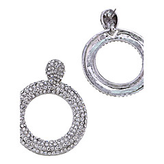 Earrings Set Crystal Circular Personalized Euramerican Alloy Jewelry For Wedding Party Congratulations 1 pair