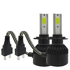 Txvso8 2xh7 100w 12000lm auto verlichting 12v conversie kit cob chips auto mist lamp 6000k witte automotives koplamp h7 led koplampen