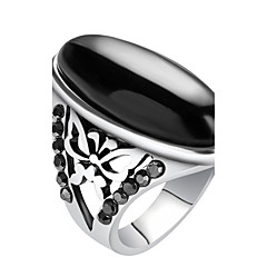 Ring Statement Rings Unique Design Euramerican Fashion Vintage Personalized Luxury Statement Jewelry Resin Alloy Geometric Jewelry For Men