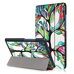 Pu cubierta de la caja para lenovo tab3 tab 3 8 más 8703x tb-8703f p8 con protector de pantalla